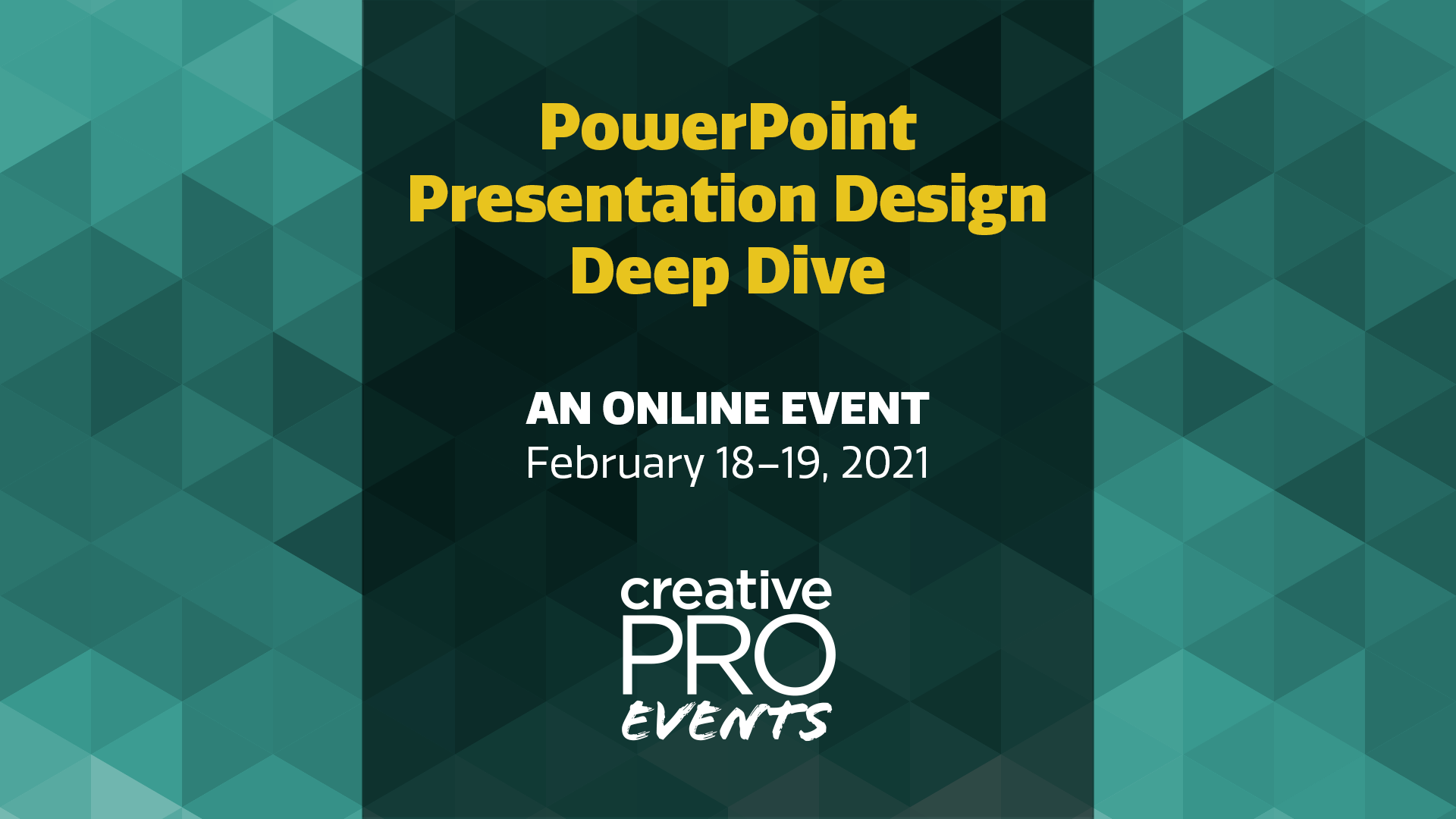 CreativePro Presentation Deep Dive Graphic